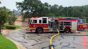 Austin residence catches on fire after being struck by lightning