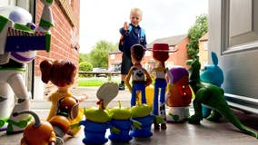 Dad recreates sweet 'Toy Story' scene to send son, 4, back to school