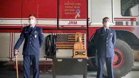 Air Force fire service honors Americans who lost their lives in 9/11 with 'last alarm'