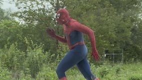 Spider-Man spotted running in Leander