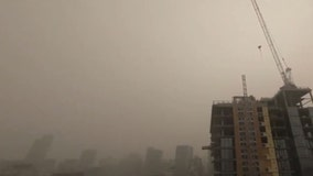 Drone footage shows hazardous smoke from US wildfires smothering Vancouver, British Columbia
