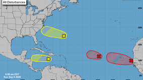 Hurricane center monitoring 4 areas for development, including 2 with 'high' chances