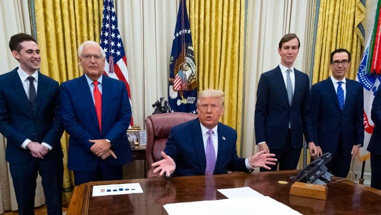 03913336-President Trump Trump Announces United Arab Emirates Will Reestablish Diplomatic Ties with Israel