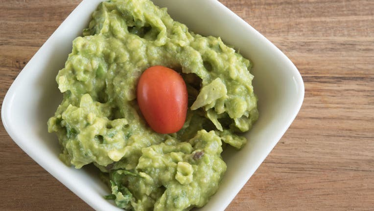 Guacamole, close up of the traditional Central American