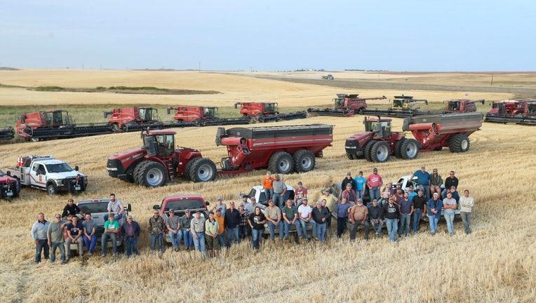 north dakota farmers harvest don anderson