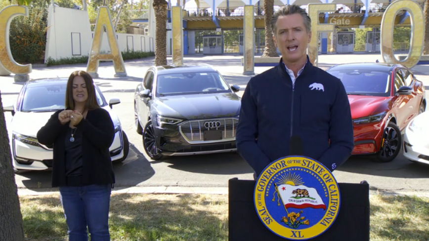 California governor signs order to ban gas-powered cars and trucks