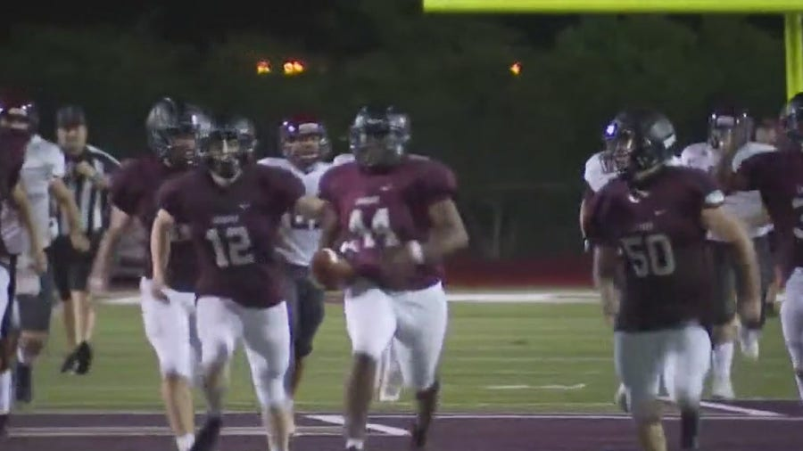Lockhart teams up with Bastrop to make autistic football player's dream come true