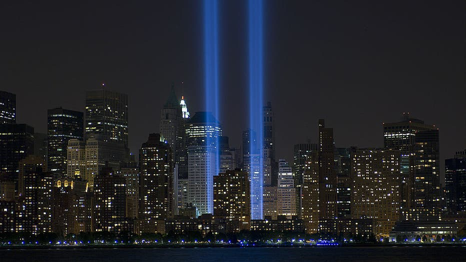 World Trade Center Memorial Lights - September 11, 2005