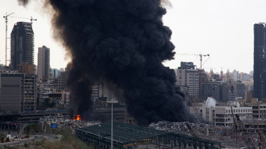 Fire Breaks Out At Beirut Port, Site Of Last Month's Deadly Blast