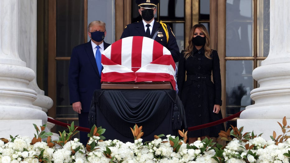 Justice Ruth Bader Ginsburg Lies In Repose At Supreme Court
