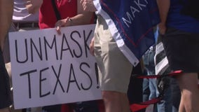 Rally held outside Texas Governor's Mansion to protest mask mandate
