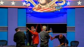 Plexiglass and patriotic flair: Stage set for VP debate in the coronavirus era