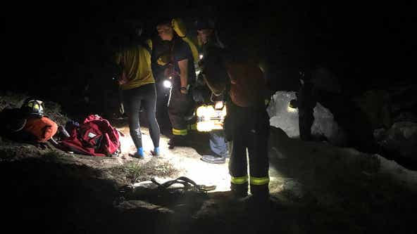 VIDEO: San Francisco firefighters rescue person trapped on rocks in Presidio