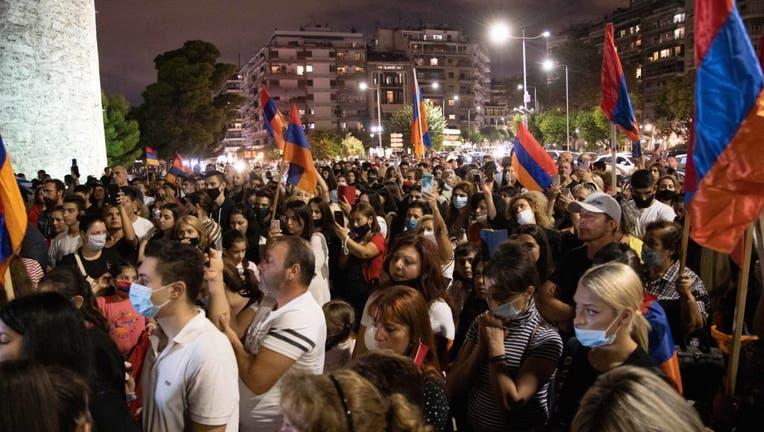 Armenia-Azerbaijan Conflict Protest In Greece