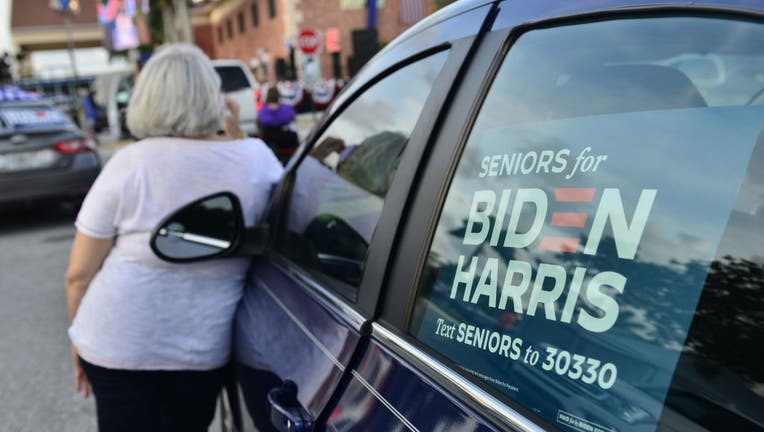 83f431c5-Jill Biden Hosts Women For Biden Drive-In Rally In Florida