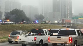 18-wheeler crash on I-35 causes traffic delays