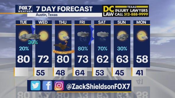 Morning weather forecast for November 24, 2020
