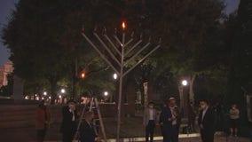 Abbott speaks, lights candle at Texas Capitol Menorah Lighting Ceremony