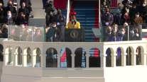 Amanda Gorman reads poem at inauguration ceremony