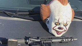 San Leandro police arrest man with clown mask, AR-15 in car