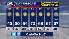 Evening weather forecast for January 10