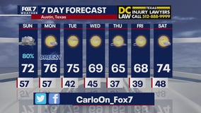 Evening weather forecast for January 23