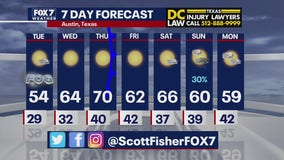 Evening weather forecast for January 11