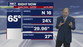 Evening weather forecast for January 14, 2021