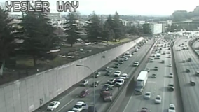A dozen protesters arrested for blocking lanes on I-5 in Seattle