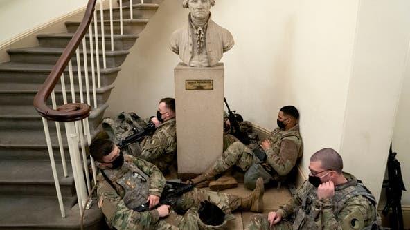 National Guard members seen sleeping on Capitol floor ahead of inauguration