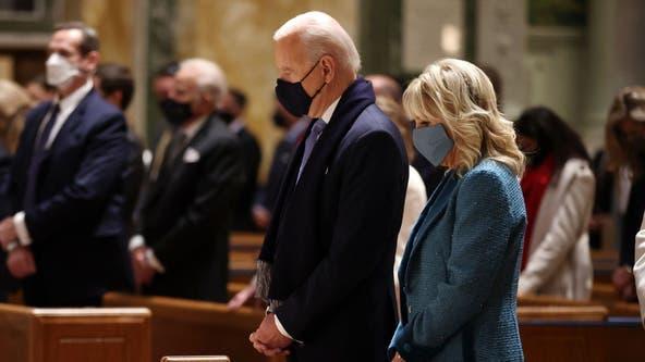 Joe Biden attends service at St. Matthews