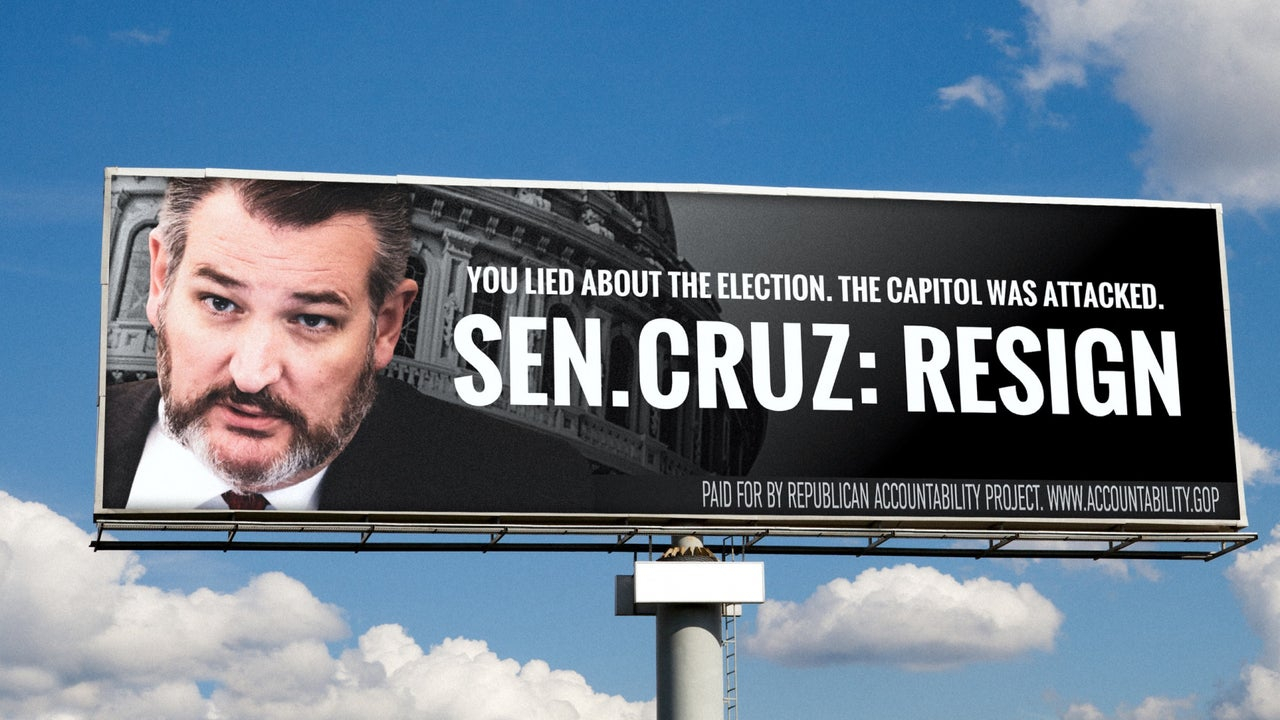 Republican group puts up billboards calling on Ted Cruz to ...