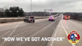 AFD shares video of close call with crew out on icy road