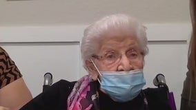 Centenarian waits on COVID-19 vaccine in Georgetown