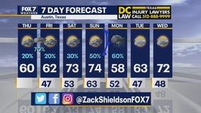 Noon weather forecast for February 25, 2021