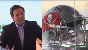Governor DeSantis responds to maskless Super Bowl photo