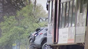 MetroRail train collides with vehicle at crossing in North Austin