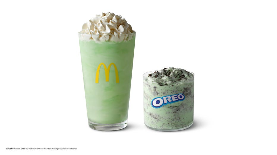 Shamrock Shake and OREO Shamrock McFlurry