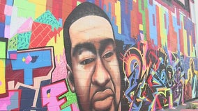 George Floyd mural defaced with racial slur two days after Chauvin's murder conviction