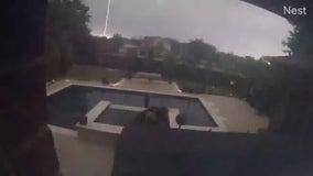 VIDEO: Cedar Park couple surprised by sudden lightning strike
