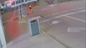 Video shows woman crash electric scooter, fly over handlebars in Australia