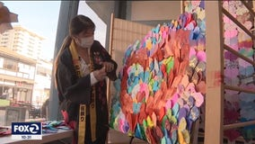 San Francisco origami artist shows the power of paper to combat anti-Asian hate