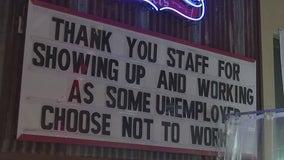 Restaurants face staff shortages, blame unemployment benefits