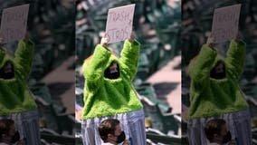 Oscar the Grouch turns up to help Angels fans trash Astros