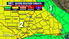 Most of Central Texas under slight risk of severe storms