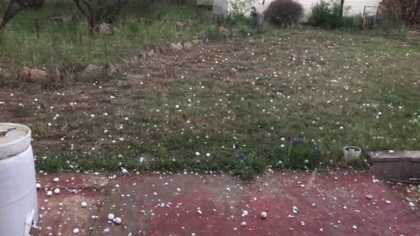 Large hail hits Llano County amid severe thunderstorm warning