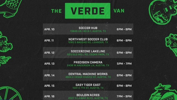 The Verde Van, a mobile retail shop, brings Austin FC to the people