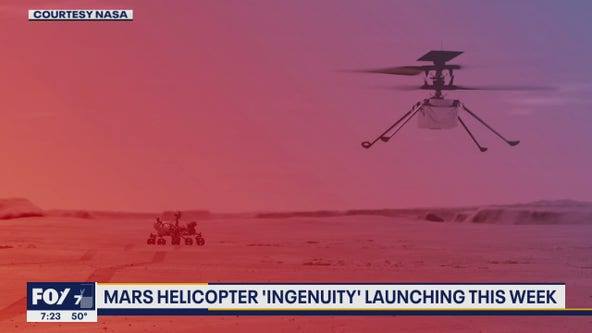 Mars Helicopter launching midweek