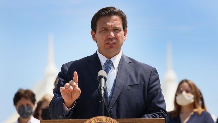 Florida Governor Ron DeSantis Holds News Conference In Miami
