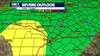 Strong to severe storms possible as cold front moves into Central Texas